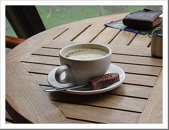 Coffee with Fish at Waitangi Treaty Grounds, New Zealand