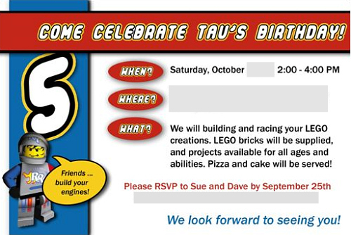 Lego Party The Invitations – Free Lego Party Invitations