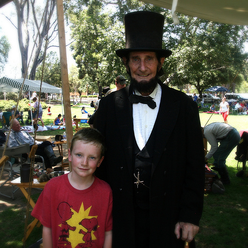 Tau with Abe Lincoln