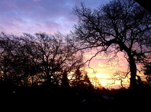 Sunrise, Christmas morning