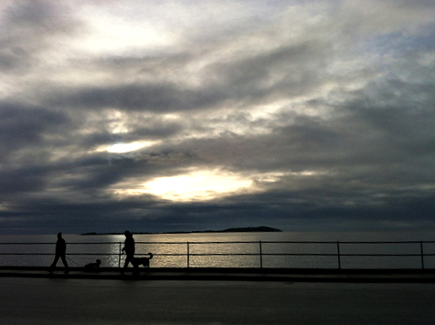 Mid-morning, overlooking Oak Bay